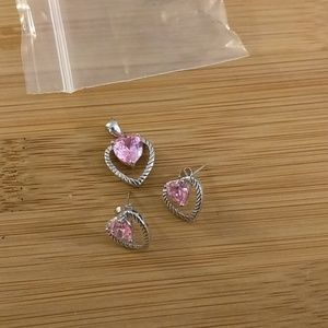 NEVER WORN Sterling Silver Earring and Pendant Set